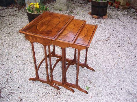 walnut nest of tables nest of 3 walnut tables antiques atlas