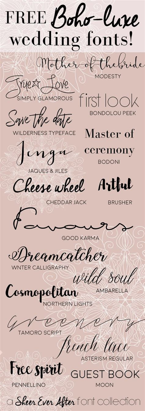 Wedding Font Diy by Free Calligraphy Fonts To Make Pretty Wedding Stationery