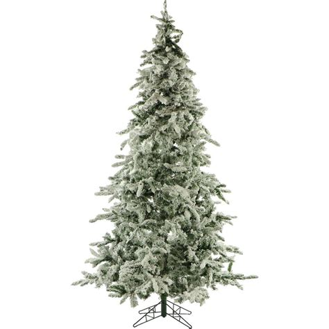 fraser hill farm 9 ft unlit flocked mountain pine