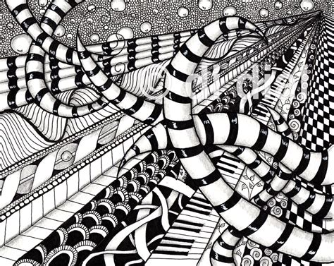 Vanishing Point Zentangle Doodling