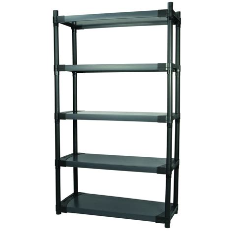 garage shelving lowes grosfillex maximup 36 in modular shelving storage unit lowe s canada