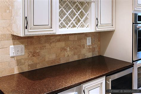 kitchen backsplash travertine tile travertine subway backsplash brown countertop backsplash
