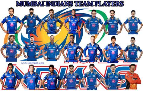ipl 2017 team players ipl 2017 mumbai indians team players superhdfx