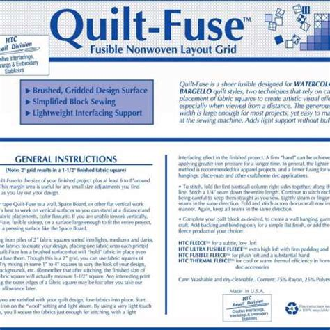 Quilt Fuse by Quilt Fuse Fusible Non Woven Layout Grid Htc3240 1