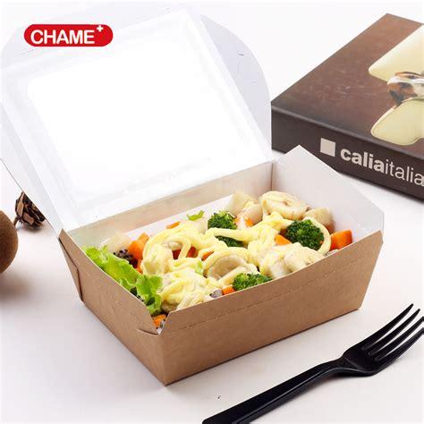 Lunch Box Paper einweg wegnehmen kraftpapier mittagessen box food