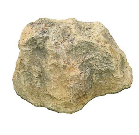 solid artificial rocks or hollow rocks which are open to