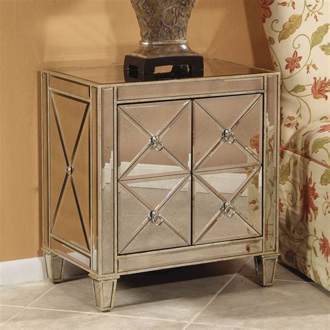 how outstanding unique designs mirrored nightstand