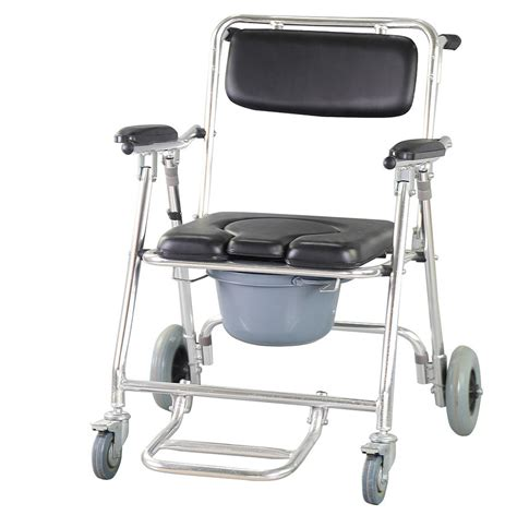 wheelchair shower chair professional commode wheelchair bedside toilet shower