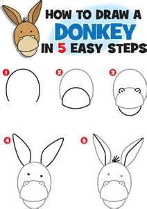 how to draw how to draw a donkey kid scoop