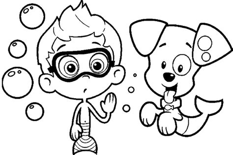 Printable Bubble Guppies Coloring Pages Coloring Me Guppies Colouring Pages