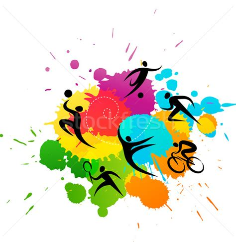 design free stock photo illustration of a colorful sport background colorful vector illustration vector