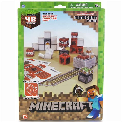 Minecraft Papercraft Sets - minecraft paper craft 48 set ebay