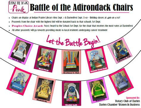 The Battle Of The Pink by Paint The Town Pink Battle Of The Adirondack Chairs