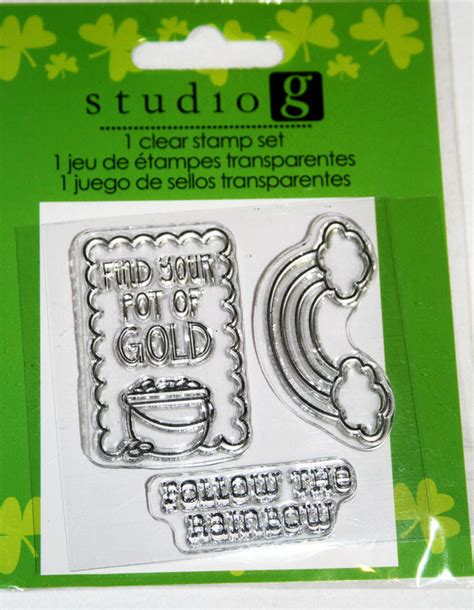 rubber st set st patricks clear rubber st set from studio g