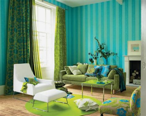 Yellow Blue And Green Living Room Turquoise And Green Color Schemed Interiors Panda S House