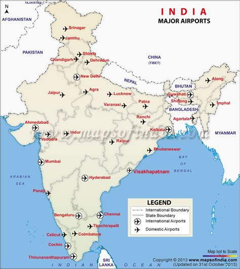 map of airports map of major airports in india india thematic maps