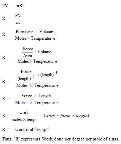 universal gas constant r constant
