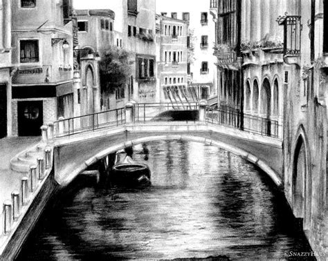 Venice Black venice italy charcoal landscape drawing buy here https