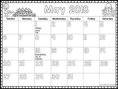 printable monthly children s calendar classroom freebies the 2017 2018 monthly calendar kids love