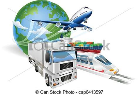 interport global logistics container tracking global logistics concept airplane truck royalty
