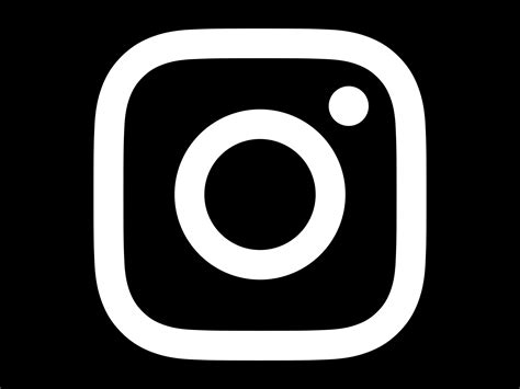 logo black and white vector instagram logo black and white pixshark com images