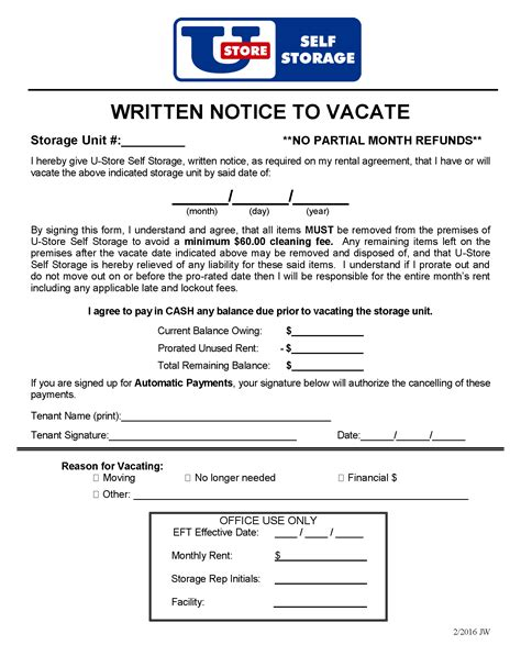 Cancellation Letter For Storage Unit notice cancellation letters documents airtel