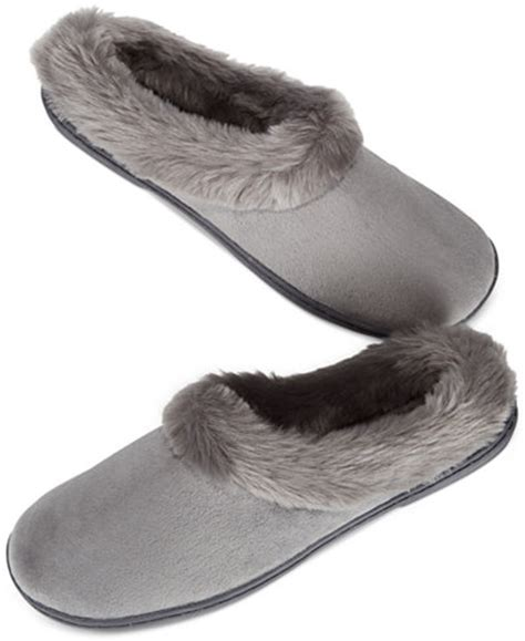 macy slippers charter club microvelour clog memory foam slippers only