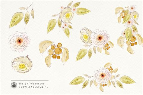 free watercolor flowers free design resources