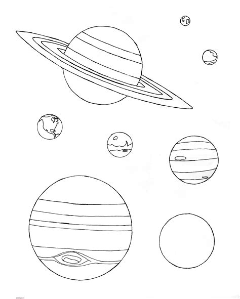 imagenes del universo para imprimir dibujos de planetas para colorear