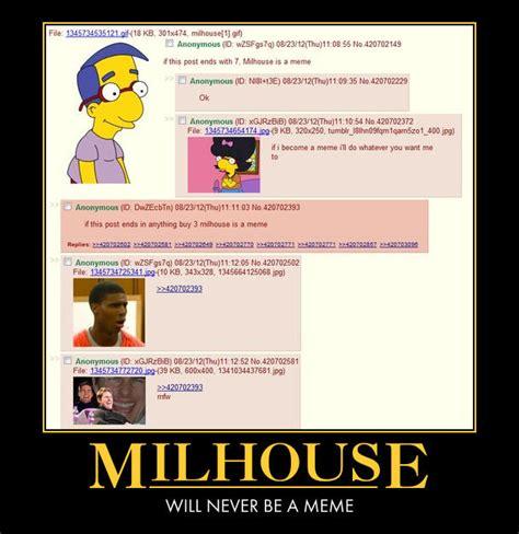 Milhouse Meme - image 382572 quot milhouse is not a meme quot know your meme