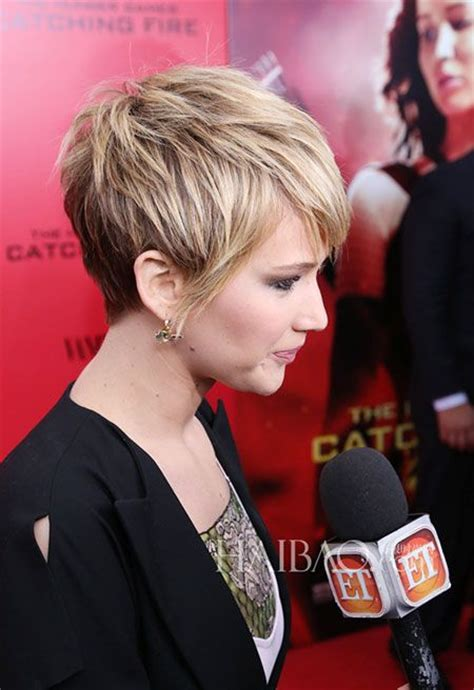 pin jennifer lawrence haircut 2014 short on pinterest jennifer lawrence short hair short celebrity hairstyles