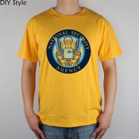 Promo Kaos Polos Nsa New States Apparel Big Size T0310 homeland security network nsa t shirt cotton lycra top 9172 fashion brand t