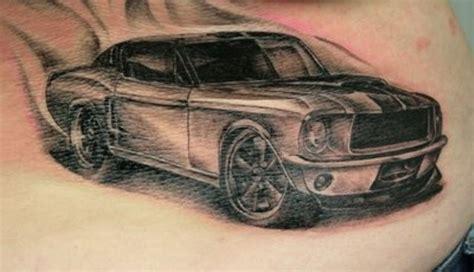 tattoo old school car mustang car tattoo on stomach tattooimages biz