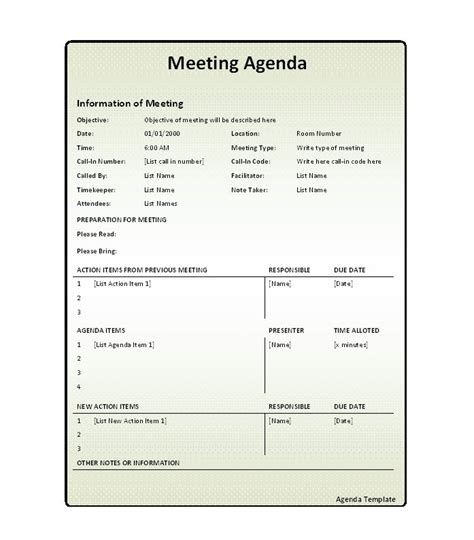 effective agenda template 51 effective meeting agenda templates free template
