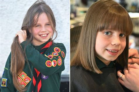 first haircut before and after going going gone girl 9 has first haircut in aid of