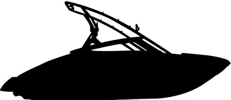 boat clipart silhouette jet boat silhouette free vector silhouettes
