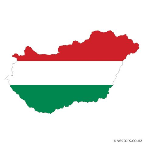 hungary map vector flag vector map of hungary vectors