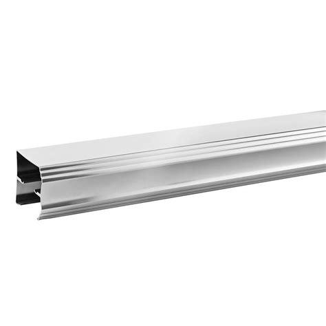 Shower Door Track Parts Delta 60 In Sliding Bathtub Door Track Assembly Kit In Chrome Sdlt060 C R The Home Depot