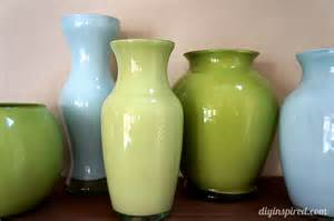 colored glass vases painted colored glass vases diy inspired