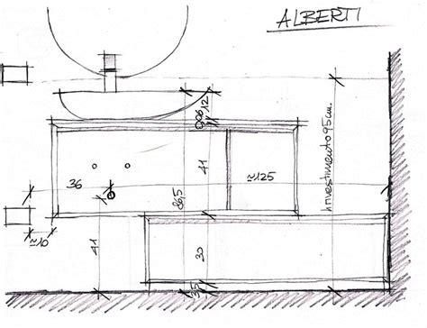 mobile bagno dimensioni mobile bagno prospetto per assemblaggio arredacasaonline it