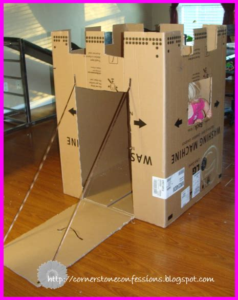 How To Make A Castle Out Of Cardboard And Paper - cardboard box makeover cornerstone confessions