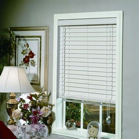 2 Inch White Faux Wood Blinds 2 inch faux white wood blind annas window treatments