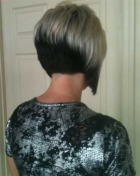 hair style short and stacked on top and long agled sides longer back 50 top short hairstyles for women black silver stack