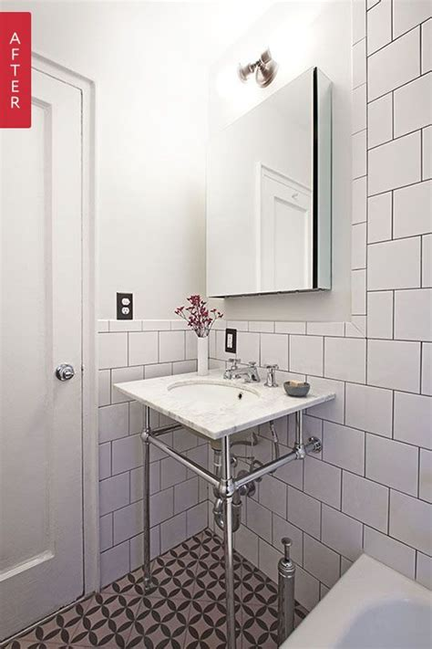 before amp after a tiny vintage bathroom gets a fresh look