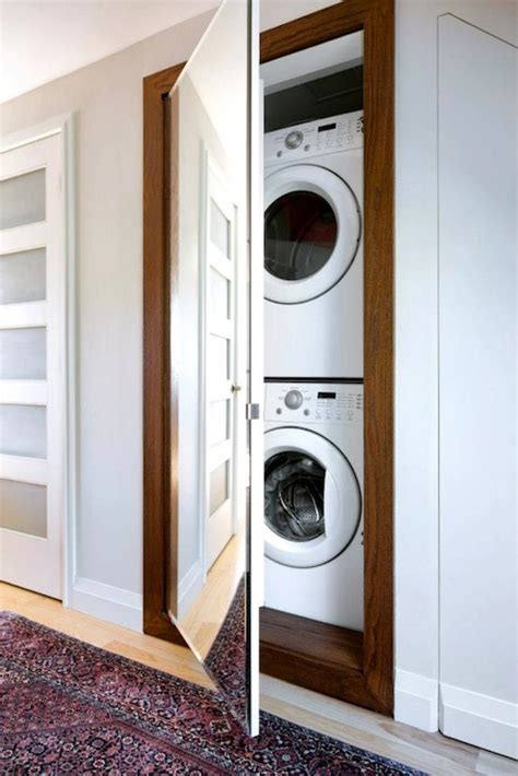 Framed Kitchen Cabinets Stacked Washer Dryer Transitional Laundry Room Lowes