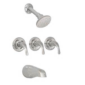 shop aquasource chrome 3 handle bathtub and shower faucet