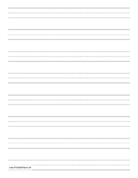 printable cursive handwriting paper printable penmanship paper with eight lines per page on