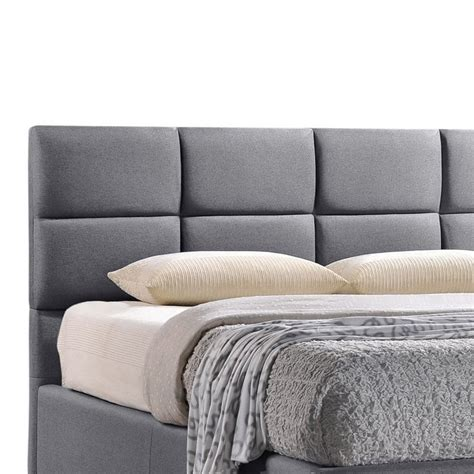 gray upholstered platform bed sophie upholstered full platform bed in gray bbt6481
