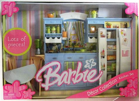 barbie home decor barbie kitchen set decor collection new ebay