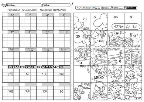 multiplicacion de raices cuadradas romanos raices y potencias clasa 5 pinterest ra 237 ces